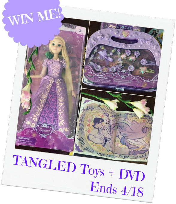 Tangled Toy Set and DVD GA-1-US-Ends 4/18  #HeartThis