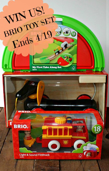 3 Piece Brio Toy Set (arv $100) GA-1-US-Ends 4/19 #HeartThis