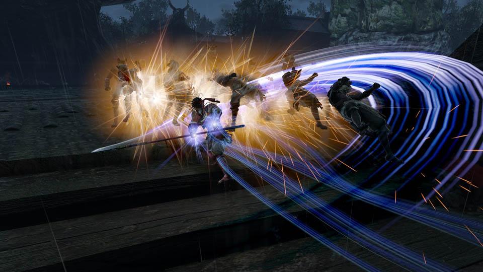 """【古澤P】この3人は、戦国無双の特徴的なアクションである""""神速攻撃""""や""""影技""""を使うことができます。発動方法や条件は、よ"""
