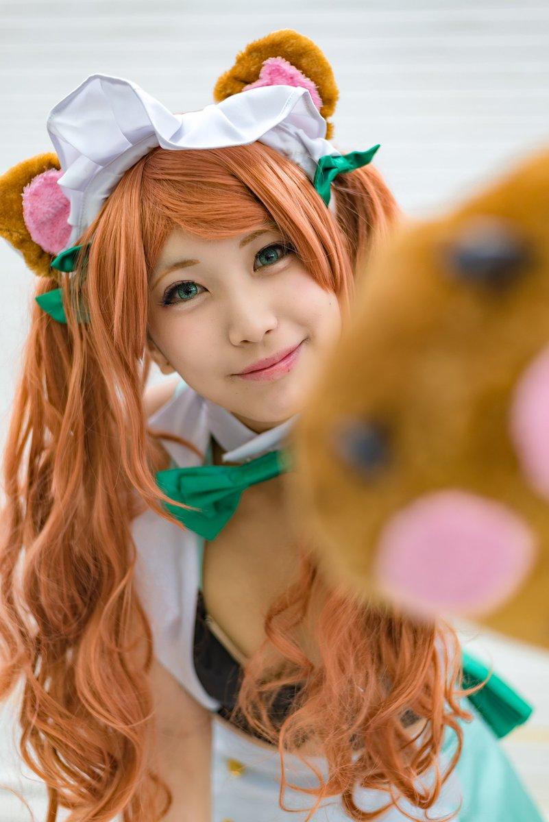 [BLOG][acosta!]ユリ熊嵐 百合ヶ咲るる モデル:望月もち子さん() #アコスタ モフモフ感が良いですね。撮