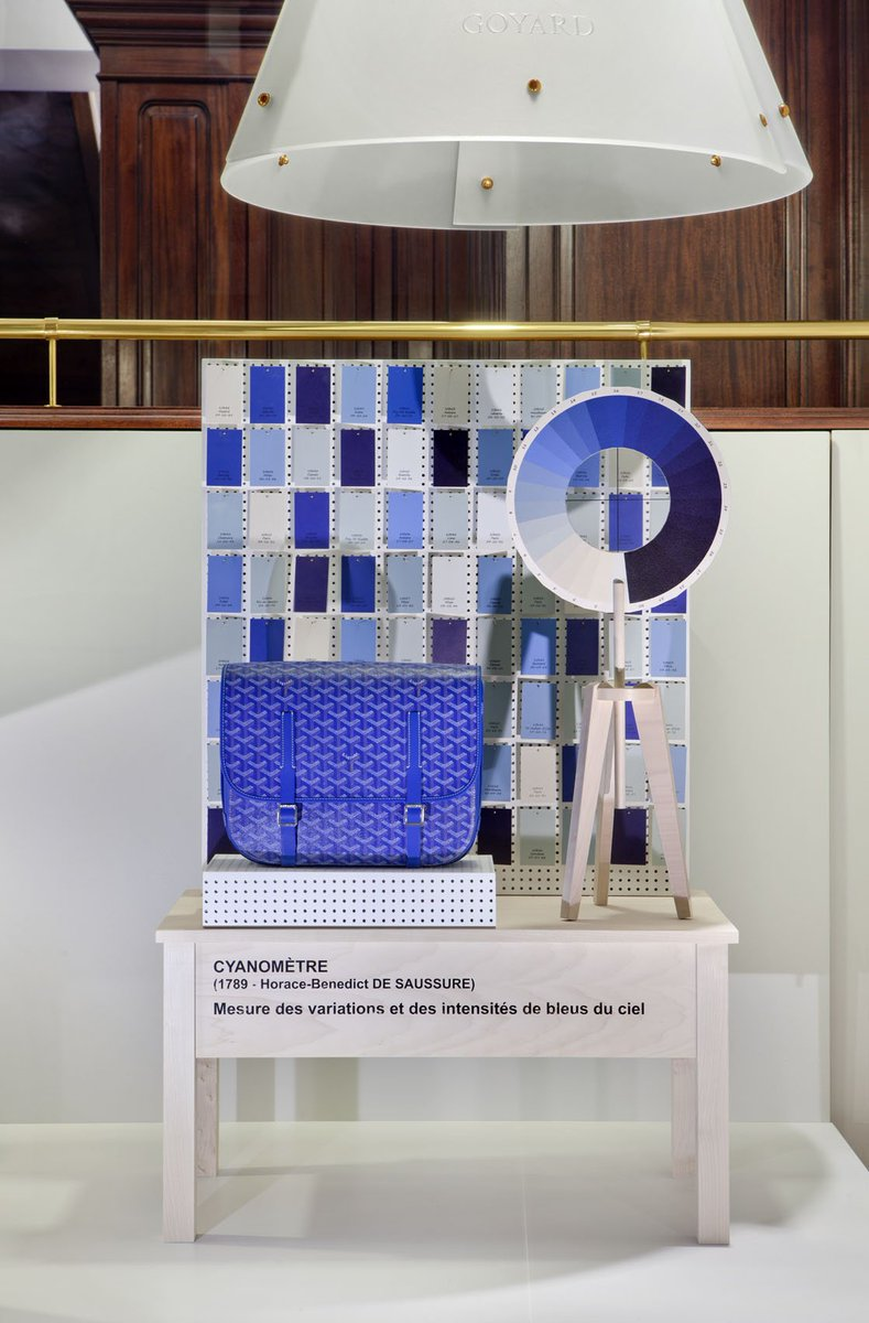 The Art of the #WindowDisplay by #Goyard #ImaginaryMachines #Cyanometer #BelvedereCrossbag https://t.co/XAvCNT1Jng