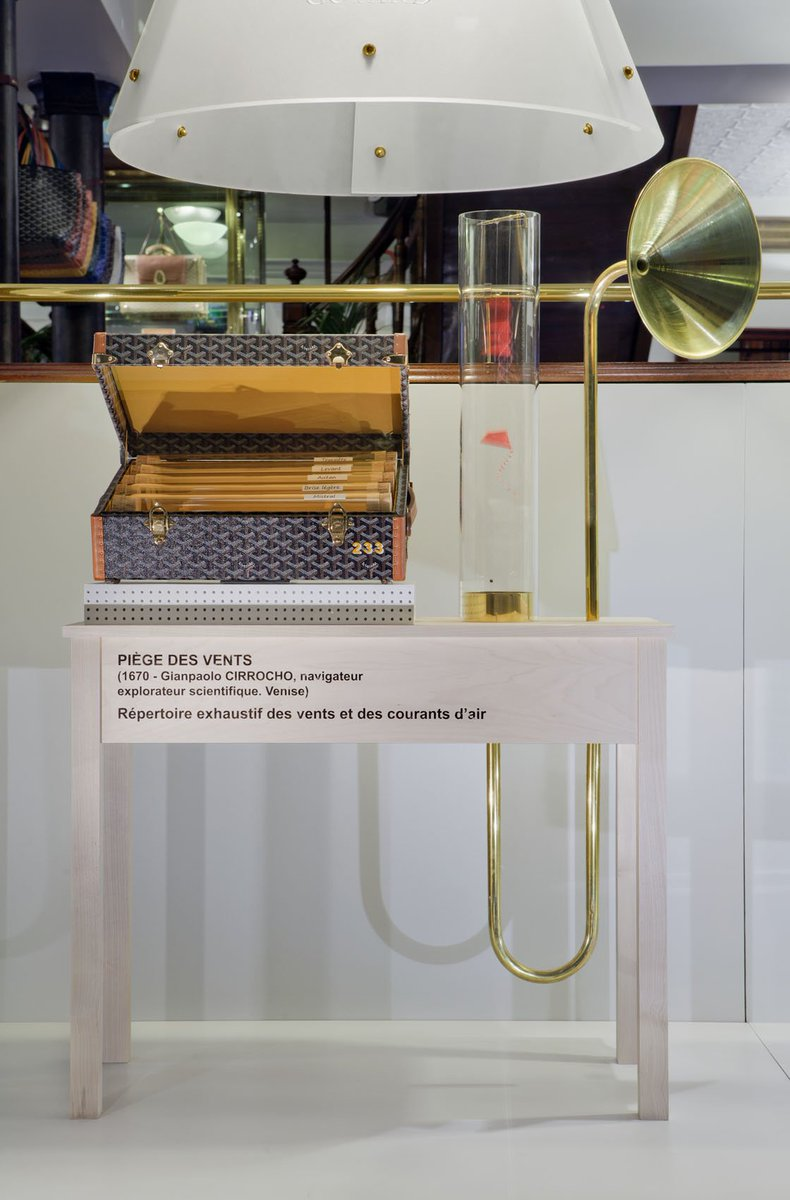 The Art of the #WindowDisplay by #Goyard #ImaginaryMachines #WindTrap #CustomBriefcase https://t.co/ANU1GQhuVy