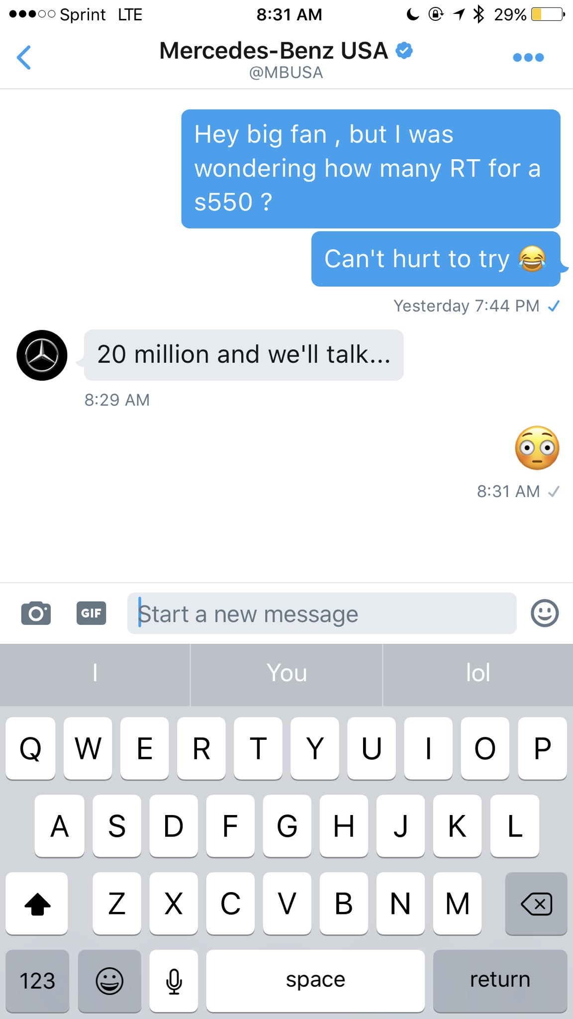 Idgaf about nothin y'all better help me get this s550 �� naw but I'm serious RT! https://t.co/KlhradZeKZ