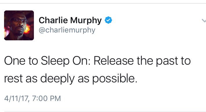RT @LarenzTate: #CharlieMurphy #RIP 🙏🏾 https://t.co/aW6Z3Snn5d