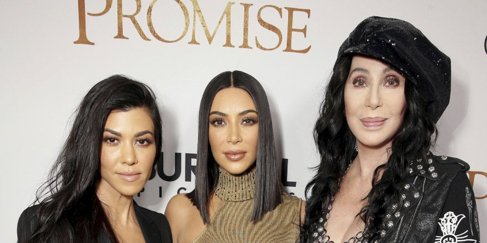 Kourtney and Kim Kardashian join Cher at premiere of Armenian Genocide film