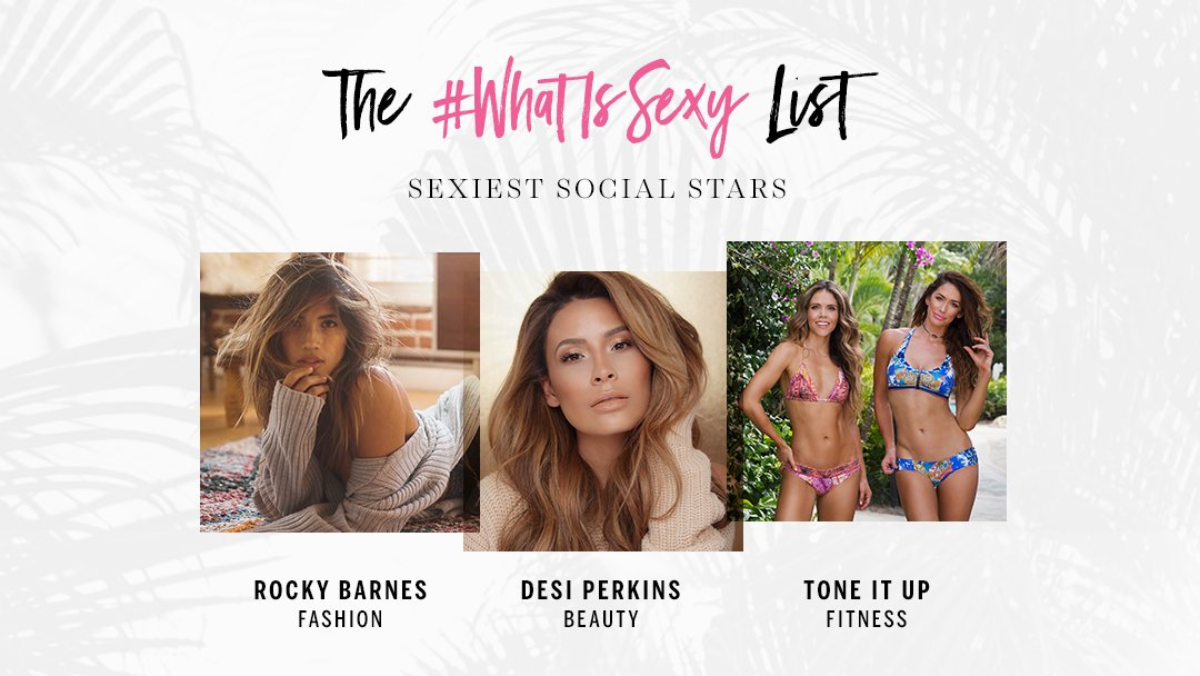 Congrats to our Sexiest Social Stars! Check out the whole 2017 #WhatIsSexy List here: https://t.co/66d7qAyrqC https://t.co/E0tb34E3Eh