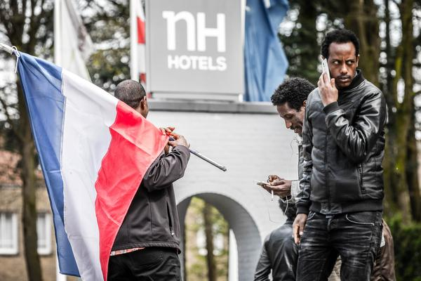 Protest Eritreeërs in Veldhoven