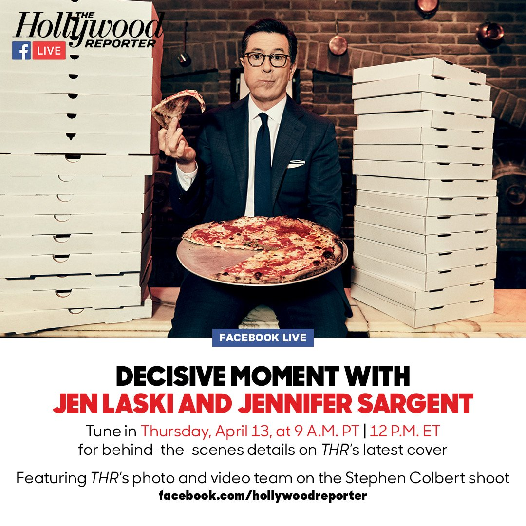 LIVE in 15: Go behind the scenes of the Hollywood Reporter's @StephenAtHome cover