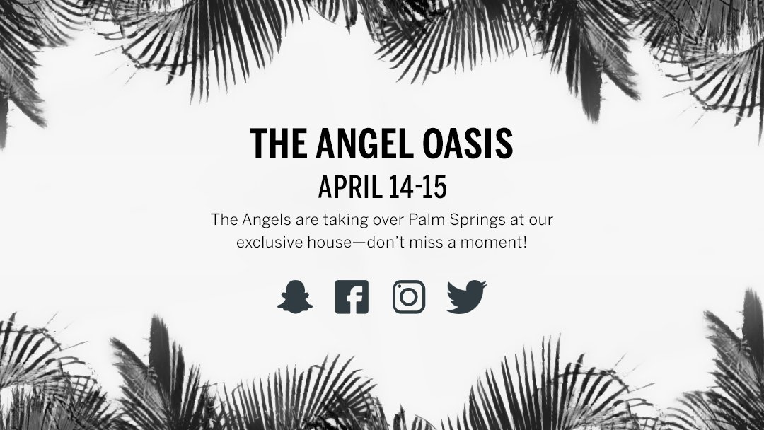 Sunshine. Palm trees. Angels. Mark your calendars! ???????? #VSAngelOasis https://t.co/dmLuH15J64