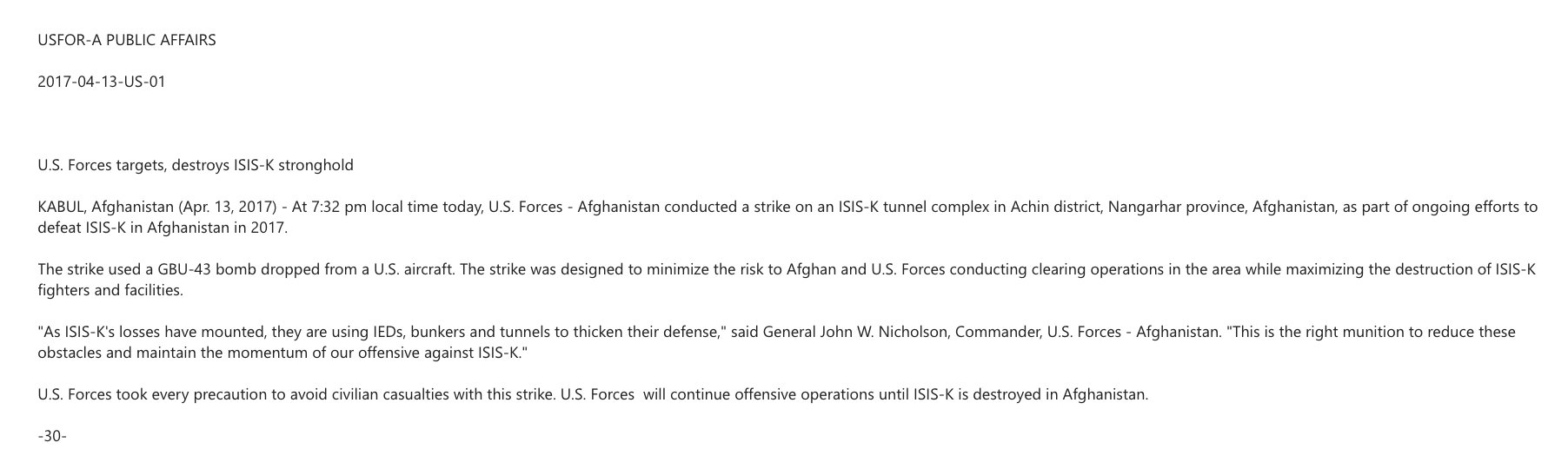 Military release on MOAB strike https://t.co/gvWwCKmUbH