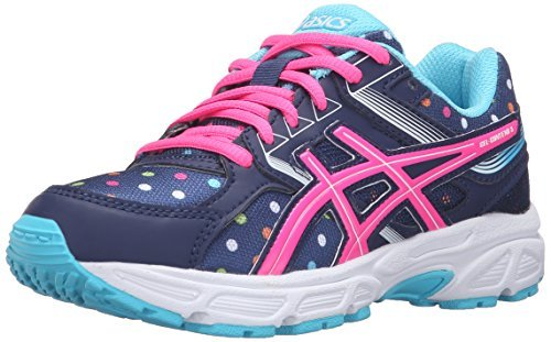 #fashion #shoes #running #free #style #giveaway #win ASICS GEL-Contend 3 GS Running Shoe (Little Kid/Big Kid), Indigo Blue/Pink Glow/Aquarium, 1.5 M US Little Kid #rt