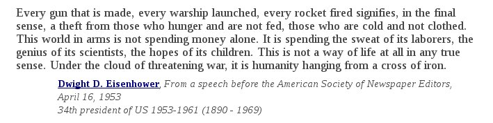 U@thenibS President (and Army General) Dwight D. Eisenhower on dropping $16,000,000 bombs on caves in the middle of nowhere: https://
