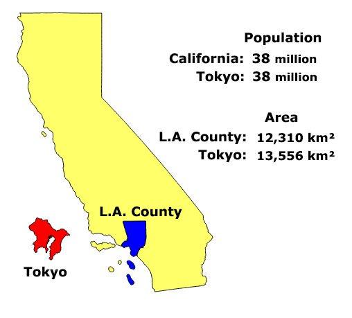 Tokyo, o cómo toda la población de california cabe en una superficie ...