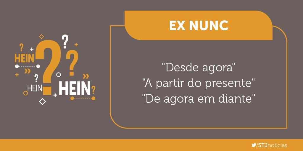 Ex nunc significa que os efeitos de uma lei ou decisão serão aplicados após o momento no qual entra em vigor.