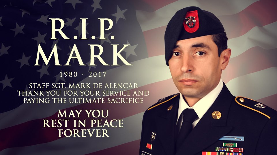 R.I.P.🇺🇸 #GreenBeret Staff Sgt. Mark De Alencar, an American Hero who Paid the Ultimate Sacrifice in the Fight with ISIS.  Afghanistan #MOAB https://t.co/K2DpjJyCIu