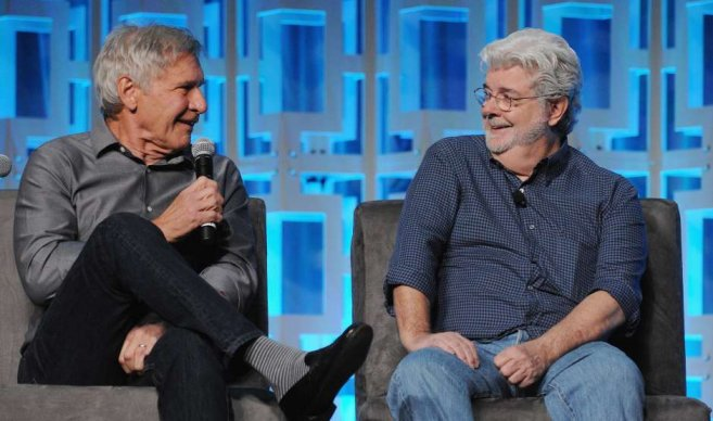 Happy Birthday George Lucas, Harrison Ford  & cast