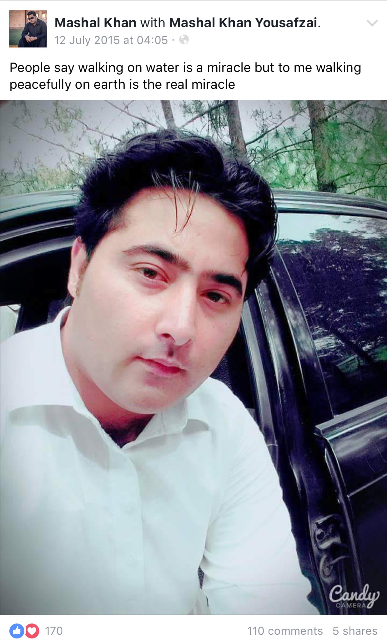 He knew he wasn't made for our times!! #MashalKhan #Mardan #hate @PTIofficial please condemn this! https://t.co/rxchquru3X