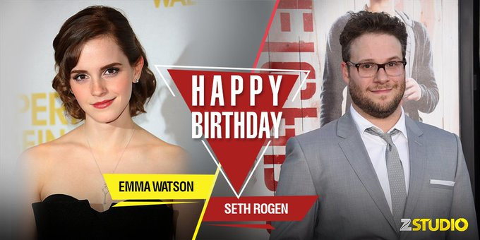 Happy birthday to Emma Watson a.k.a Hermione Granger and the Superbad Seth Rogen! Send in your wishes!