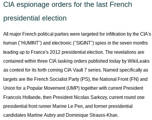 Full doc: CIA orders to hack Le Pen & other French presidential candidates
