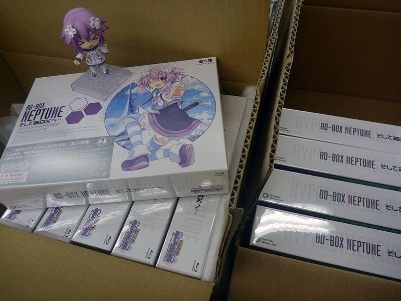 プラネテューヌ驚異のメカニズム、続々と生産されるブルーレイボックス。BD-BOX発売まであと12日…!  #ネプテューヌ