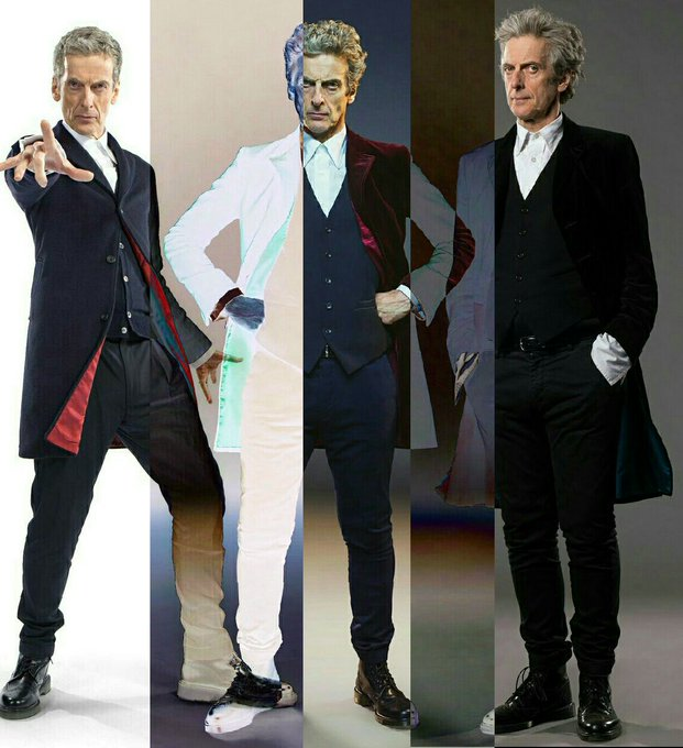 The Evolution of Twelve.   Happy BIRTHDAY, Peter Capaldi!!!!