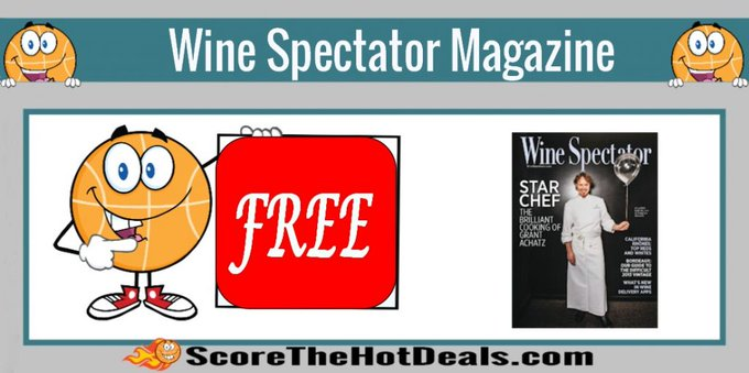 FREE Wine Spectator Magazine Subscription!free freebies freebie freemagazines