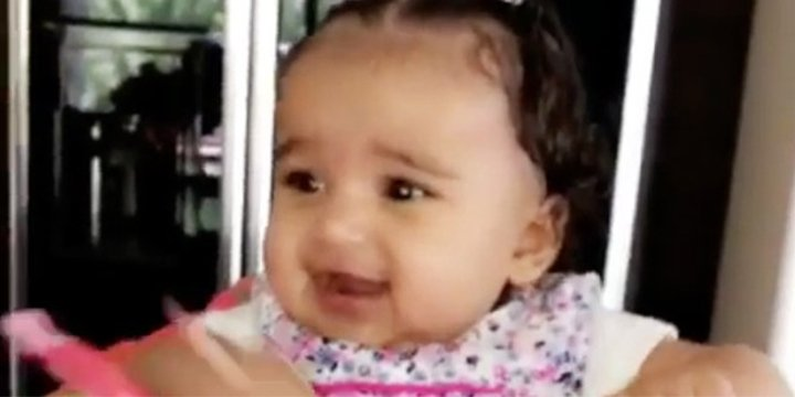 You have to see this adorable video of a giggly Dream Kardashian ?