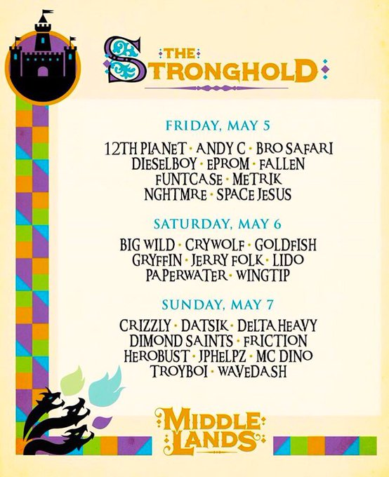 Definitely look for me at #TheStronghold during @Middlelands!!! 💫💛🙌 May 5th-7th https://t.co/3aUdBGS