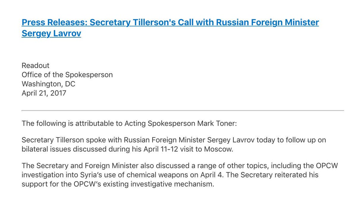 they took out something like 20 percent of the entire syrian air readout from statedept of tillerson lavrov phone call syria