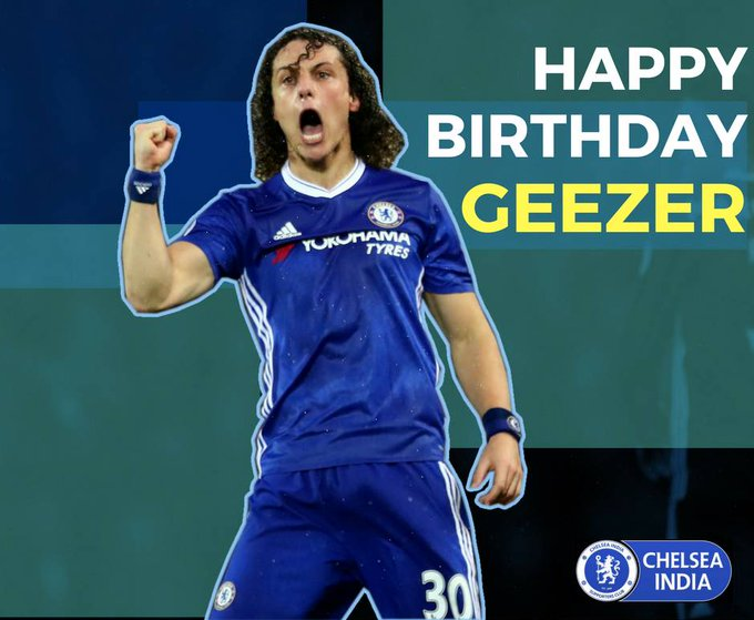 We wish a very happy birthday to our geezer, David Luiz!