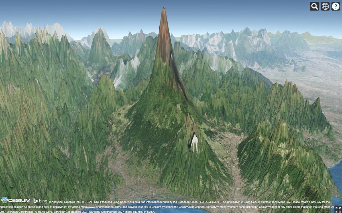 富士山.アーサー・C・クラーク「幼年期の終わり」に登場する,オーバーロードの惑星のいちシーンのよう.