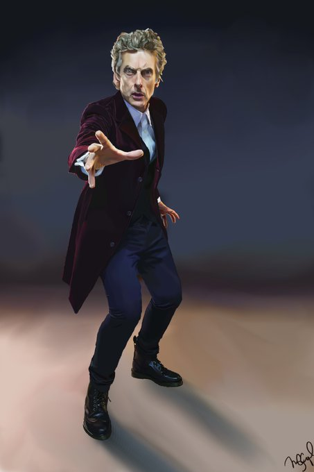 Happy Birthday, Peter Capaldi! A painting of you in your honor.