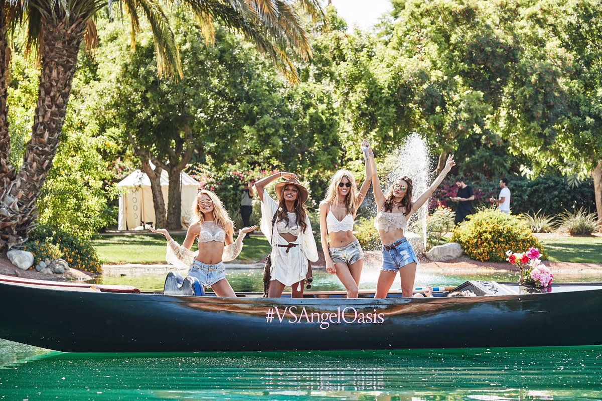 Sailing into #festival weekend like...???? #VSAngelOasis https://t.co/w75yiw1pCz