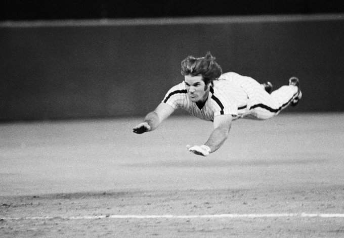 Pete Rose used his ability to fly to swipe 198 career bases. Happy Birthday Charlie Hustle.