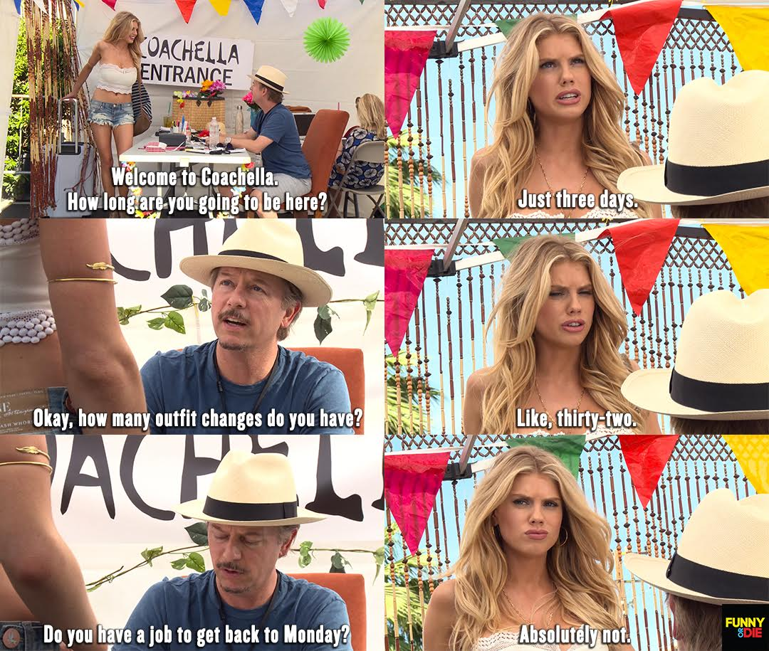 RT @funnyordie: Welcome to #Coachella @Char_mck   @DavidSpade Hates Coachella https://t.co/3DfUdwswM9 https://t.co/PYBr6fJ0AK