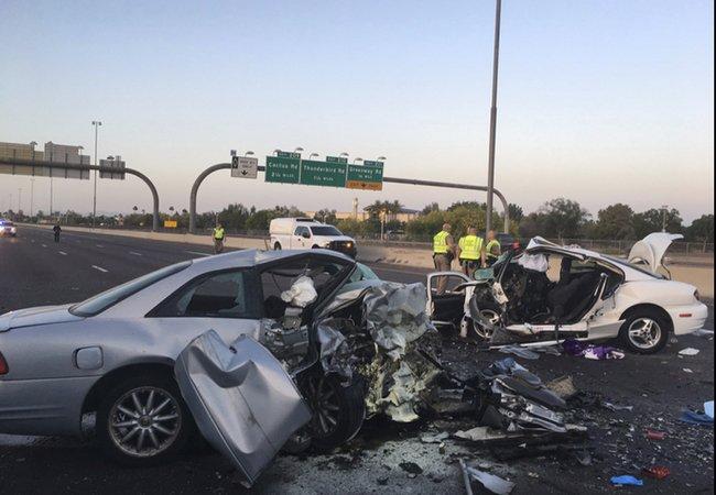 Wrong-way crash kills 3; university says 2 were students