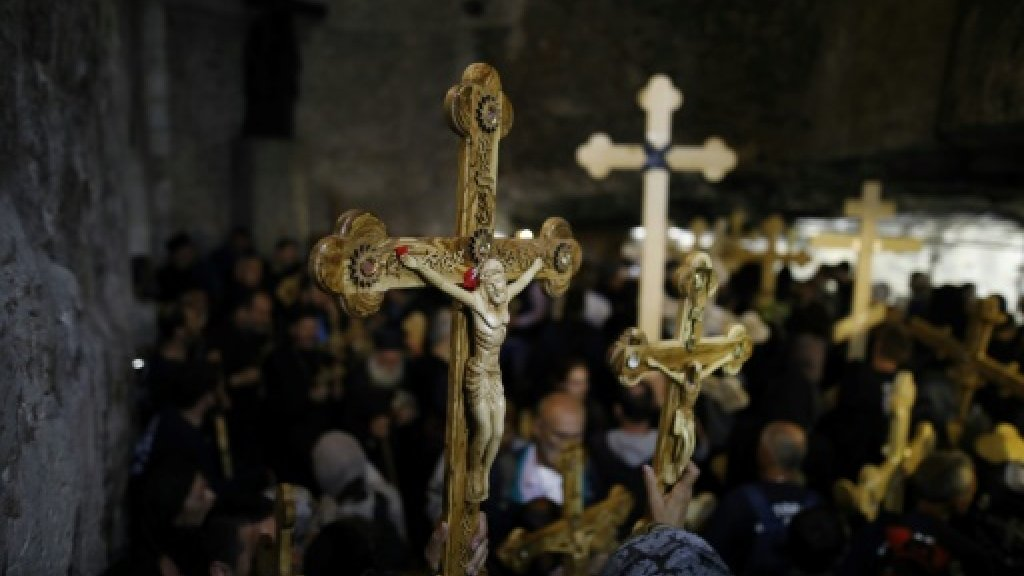Christian pilgrims commemorate Good Friday in Jerusalem