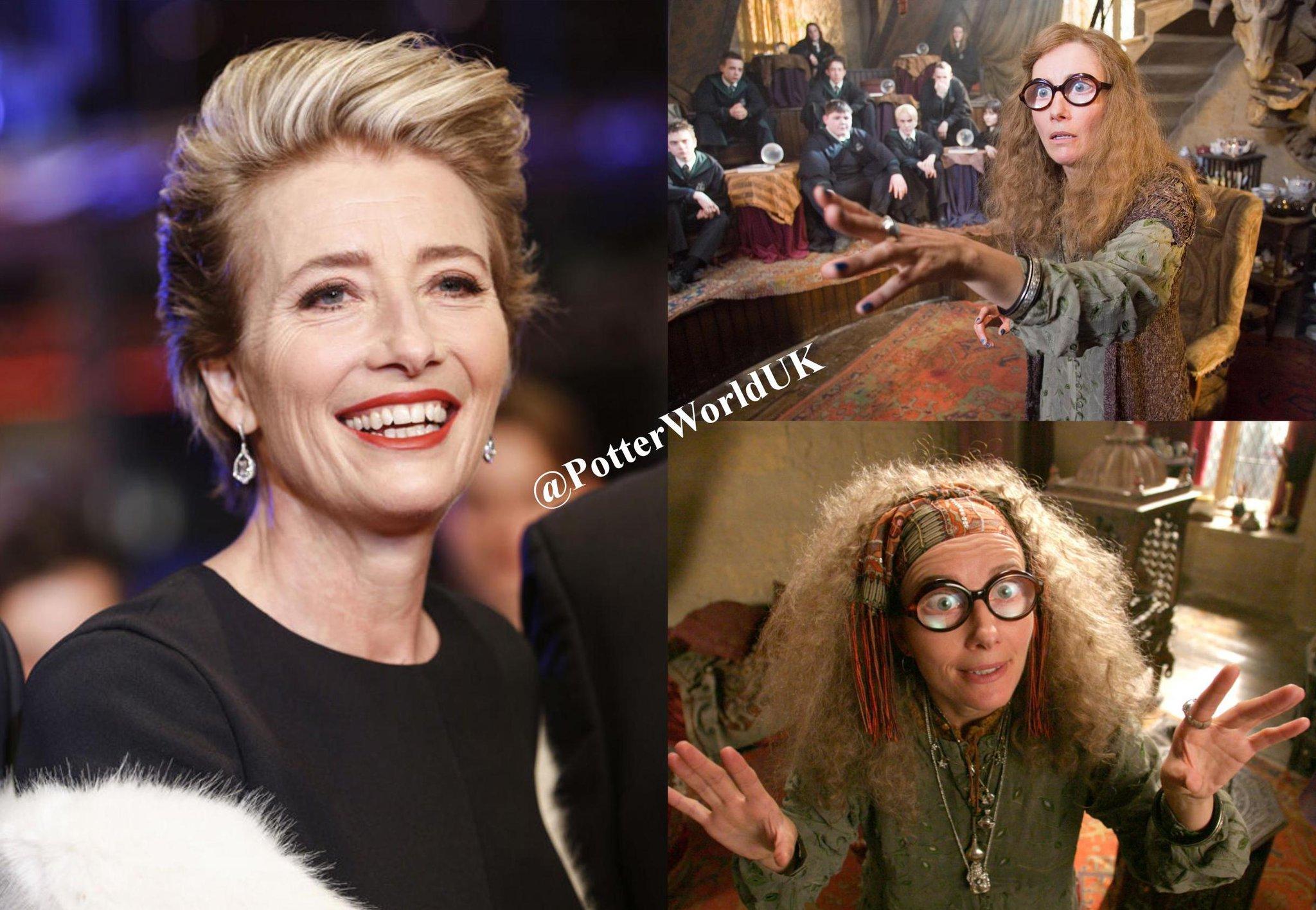 """PotterWorldUK \""""Happy 58th birthday, Emma Thompson! She played Trelawney in the Harry Potter Films!"""
