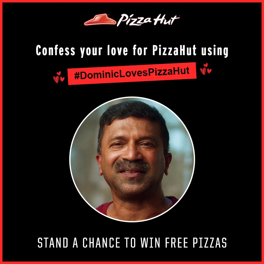 ContestAlert Shoot a video describing your love for Pizza Hut. Share with DominicLovesPizzaHut and do tag us
