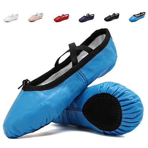#fashion #shoes #running #free #style #giveaway #win CIOR Leather Ballet Slippers for Girls Classic Split-Sole Dance Gymnastics Yoga Shoes Flats,VTW02,Blue,25 #rt