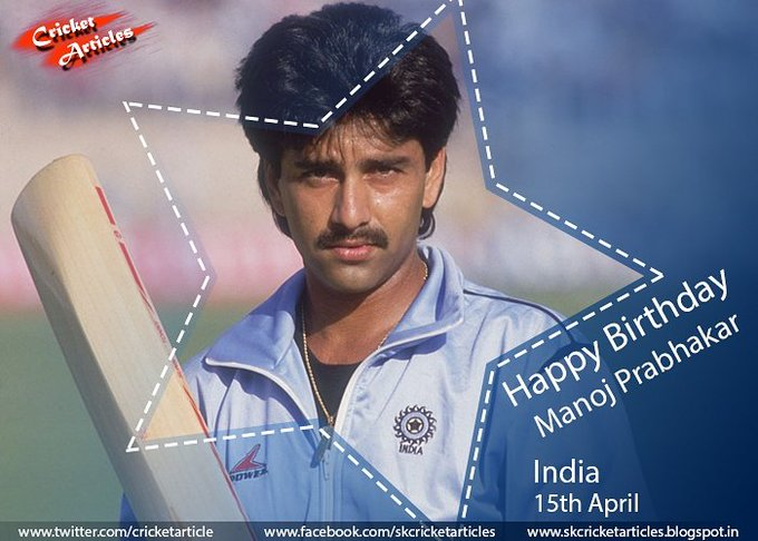 Happy Birthday to former Indian all-rounder Manoj Prabhakar