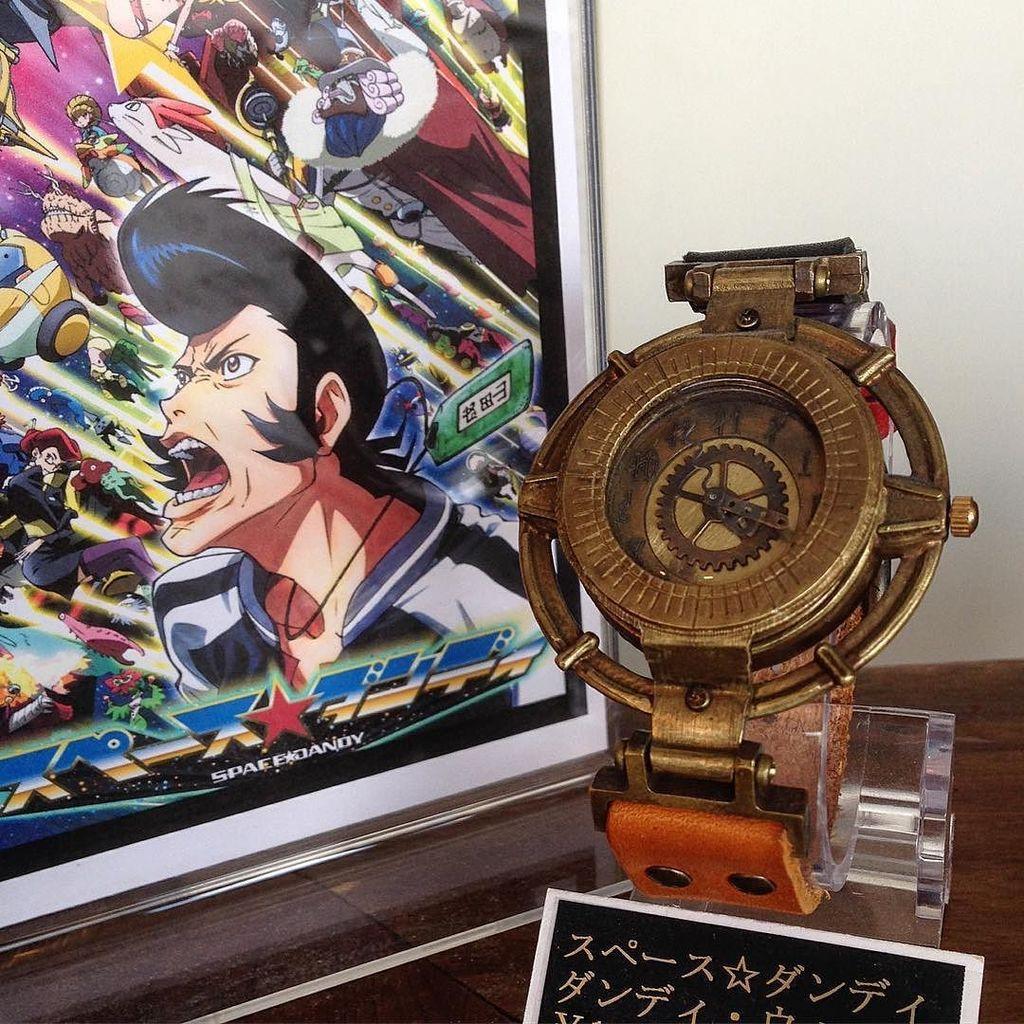 「スペースダンディ」の時計。このアニメは、あの名作「カウボーイビバップ」と同スタッフが集結して制作されました。時計はダン