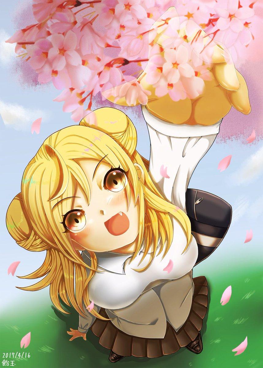 ひかりやっとかけた~~~~~桜だけで時間めっちゃかかったのにぼかしたので意味ないっていうデミちゃん本だせたらこの絵ものせ