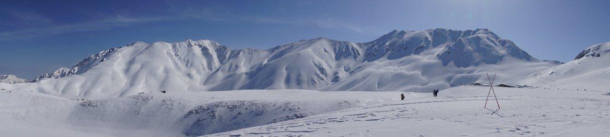 立山三山方面のパノラマです。 #クロムクロ  放送一周年おめでとうございます