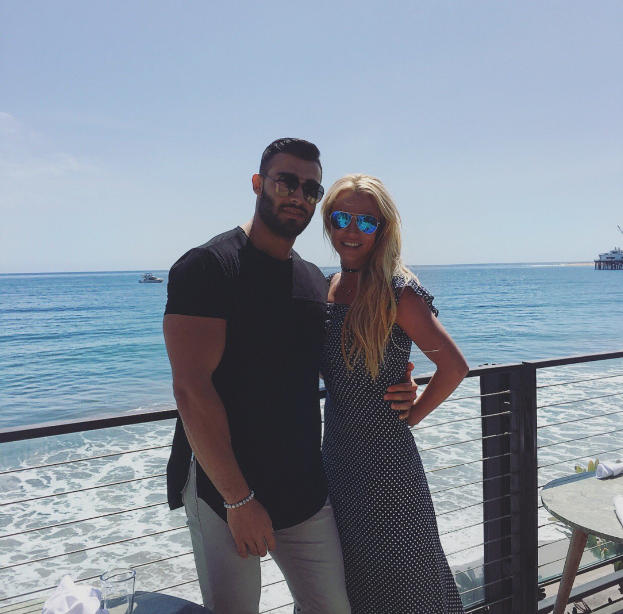 Beautiful day in Malibu with @SamAsghari0 ������ https://t.co/q92aGuMuG9