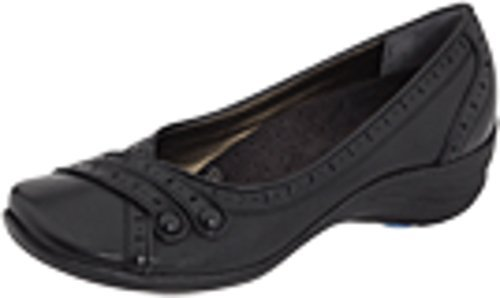 #fashion #shoes #running #free #style #giveaway #win Hush Puppies Women's Burlesque Black Leather Flat 6 M (B) #rt