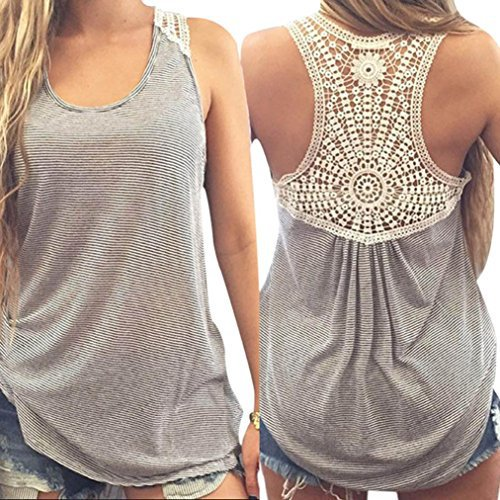#fashion #free #style #win #giveaway Lace Camisole,Hemlock Women Sleeveless Blouse Shirt Short Tank Top Sexy Sport Vest (M, Gray) #rt