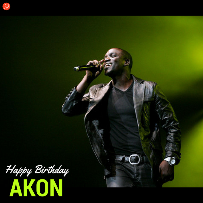 Happy Birthday to the Swanky Rapper! AKON :)