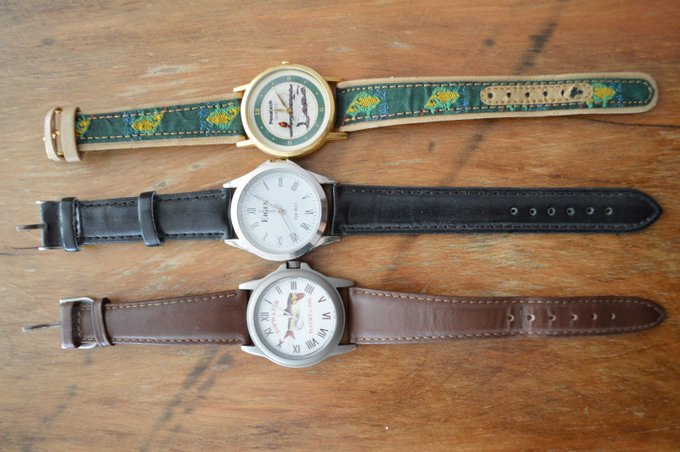LOT OF 3 WATCHES,NEED BATTERIES,EIGER,PENATECH FLY FISHING,TOPWATER PLUCKY https://t.co/0fEJQ1RqxD https://t.co/dVaYuYyL75