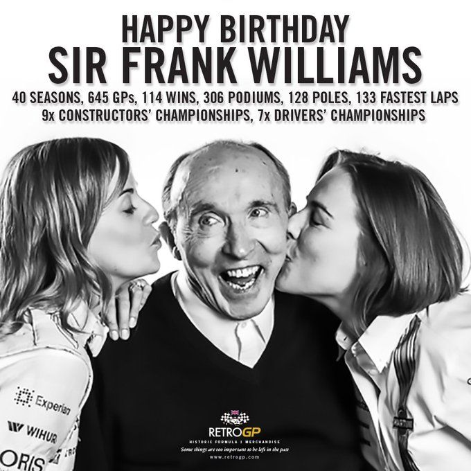 Happy Birthday to Frank Williams who celebrates his 75th today.